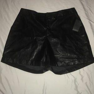 Eloquii Faux Leather Short Pants